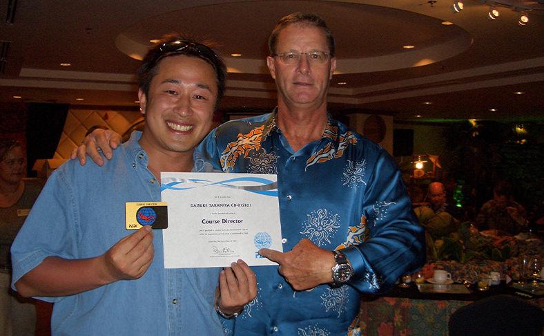 PADI最高ランク「コースディレクター」資格取得